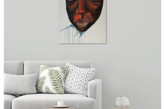 """""""Who's That Girl (Mask)"""" - Acrylic on canvas - Available on Artfinder!"""