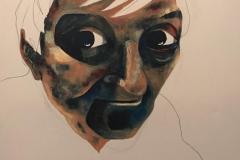 Untitled - Acrylic on box canvas - 91 x 61cm