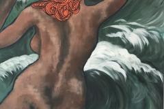 Riding The Waves - Acrylic on canvas - 91 x 61cm